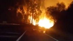 El incendio de Rianxo quema más de 500 hectáreas y se acerca a las