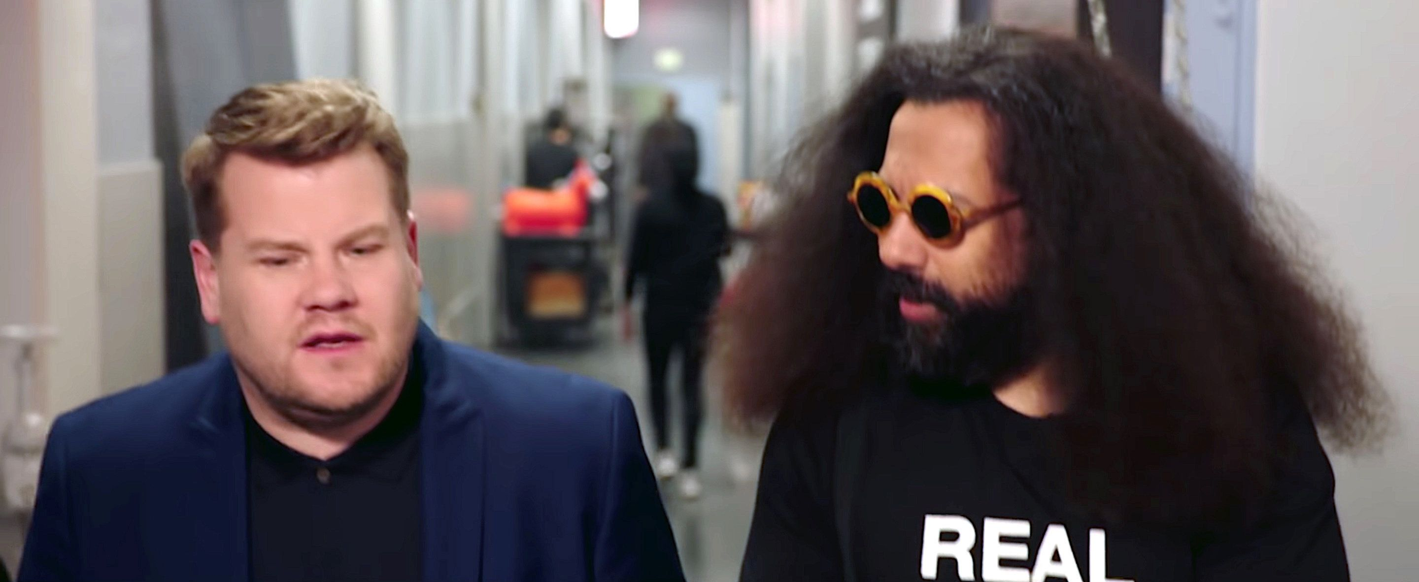 James Corden and Reggie Watts