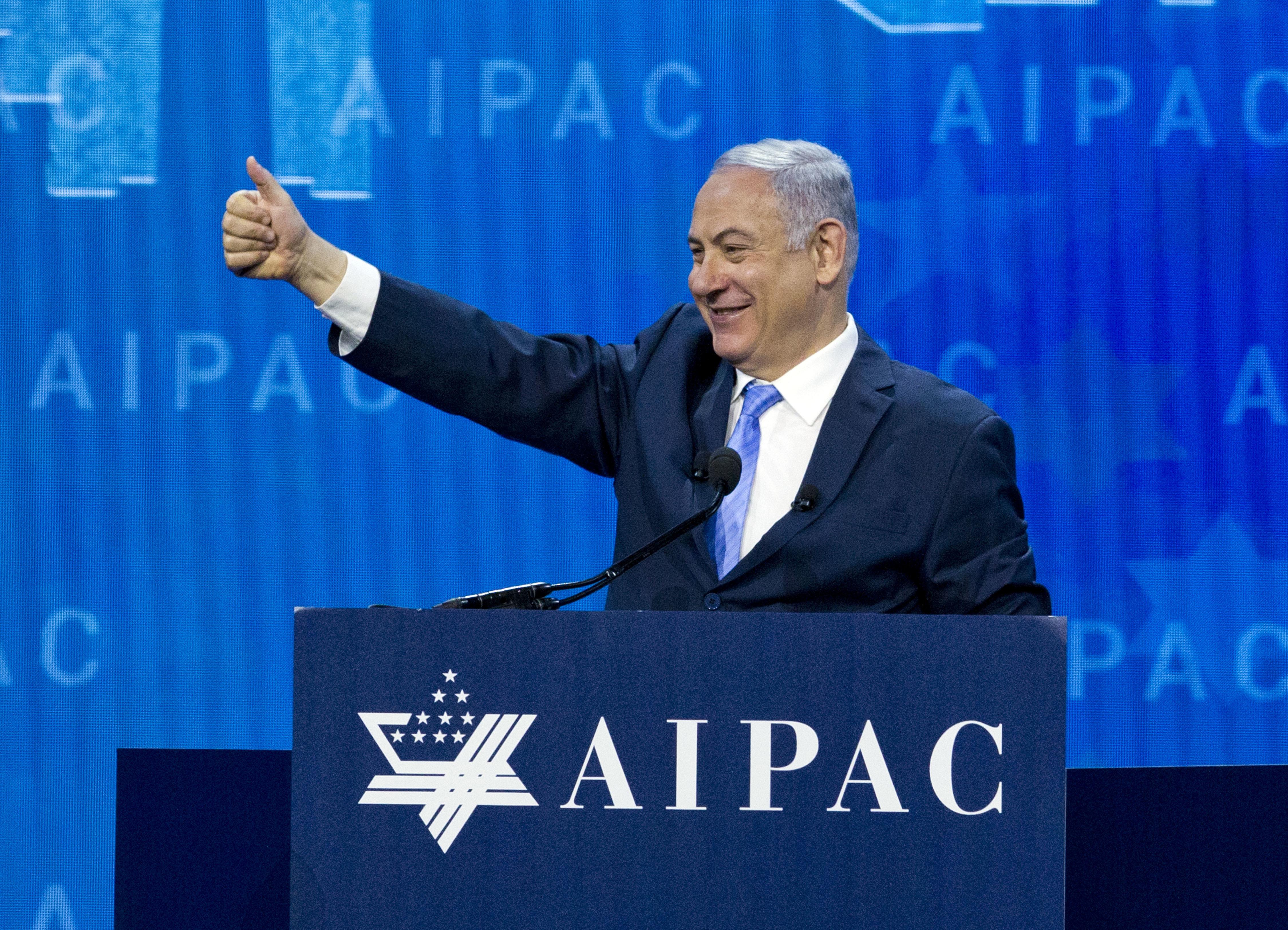 At AIPAC, Pence continues Trump attacks against Democrats