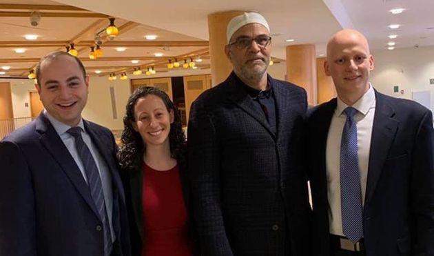 (From left) Rabbi Ari Lorge, Rabbi Stephanie Kolin, Imam Ahmed Dewidar and Cantor Daniel Mutlu pose for...
