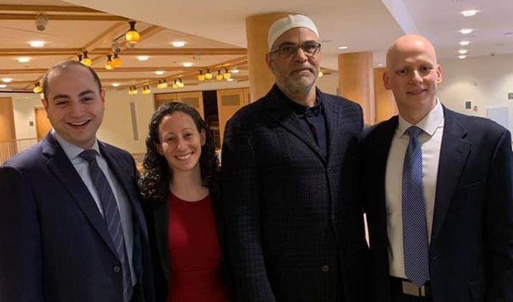 (From left) Rabbi Ari Lorge, Rabbi Stephanie Kolin, Imam Ahmed Dewidar and Cantor Daniel Mutlu pose for a photograph at Centr