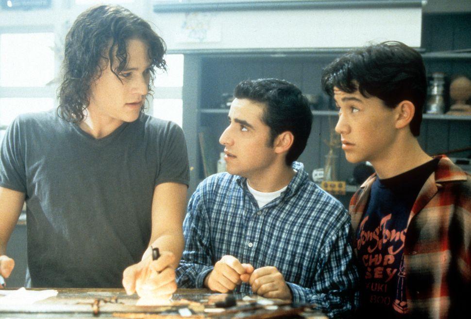 "Ledger, David Krumholtz and Joseph Gordon-Levittin ""10 Things I Hate About You."""