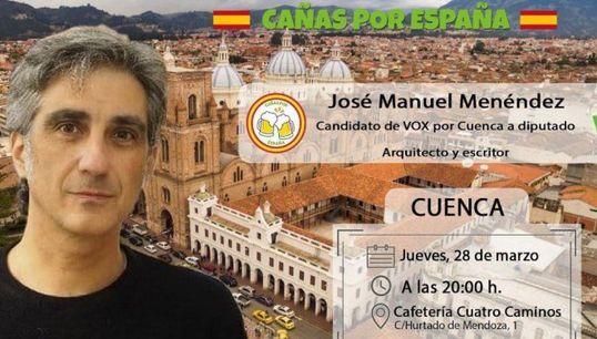 """Vox convoca sus """"Cañas por España"""" en Cuenca... y muestra una imagen de"""