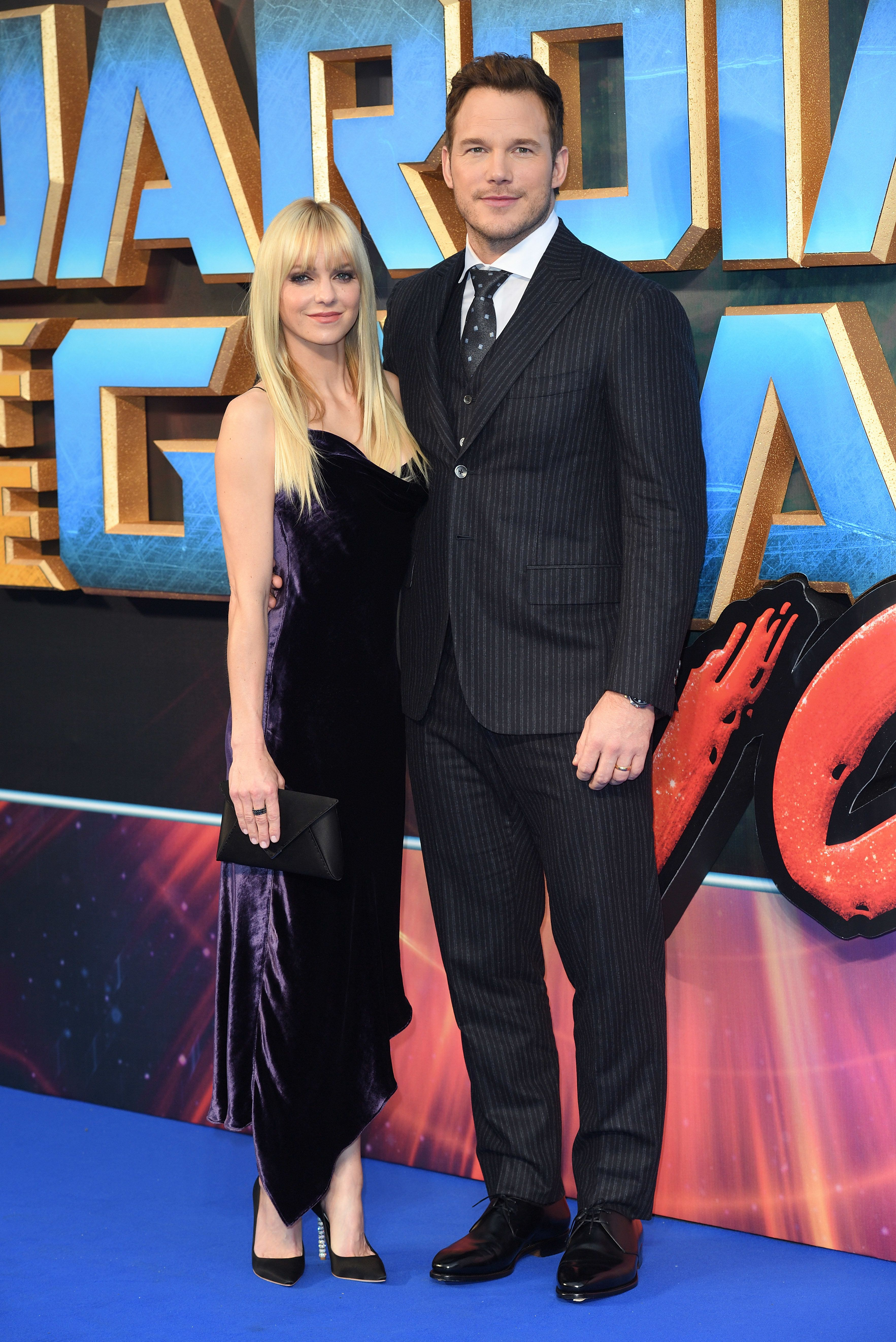 LONDON, ENGLAND - APRIL 24:  Anna Faris and Chris Pratt attend the European Gala screening of 'Guardians of the Galaxy Vol. 2' at Eventim Apollo on April 24, 2017 in London, United Kingdom.  (Photo by Karwai Tang/WireImage)