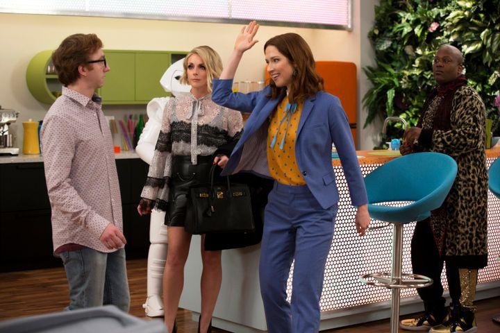 "Jane Krakowski, Ellie Kemper and Titus Burgess in ""Unbreakable Kimmy Schmidt"" on Netflix."