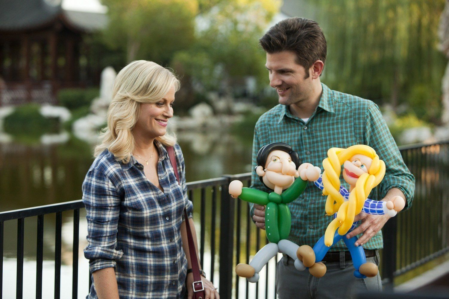 "Amy Poehler and Adam Scott in ""Parks and Recreation,"" which streams on Netflix."