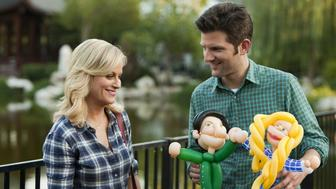 """Amy Poehler and Adam Scott in """"Parks and Recreation,"""" which streams on Netflix."""