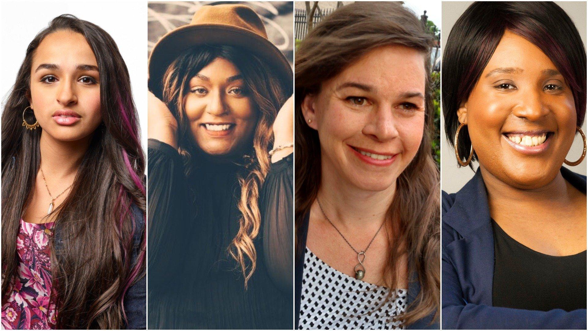 A partir da esquerda: Jazz Jennings, Aria Sa'id, Brynn Tannehill e LaLa Zannell discutem