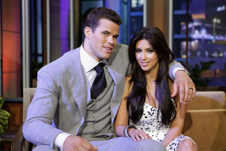 "Kris Humphries and Kim Kardashian during an appearance on 'The Tonight Show"" in 2011."