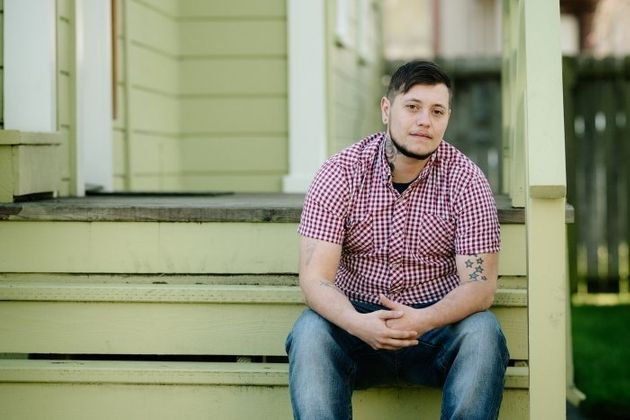 Oliver Knight, 29, was already hooked up to an IV when his hysterectomy was