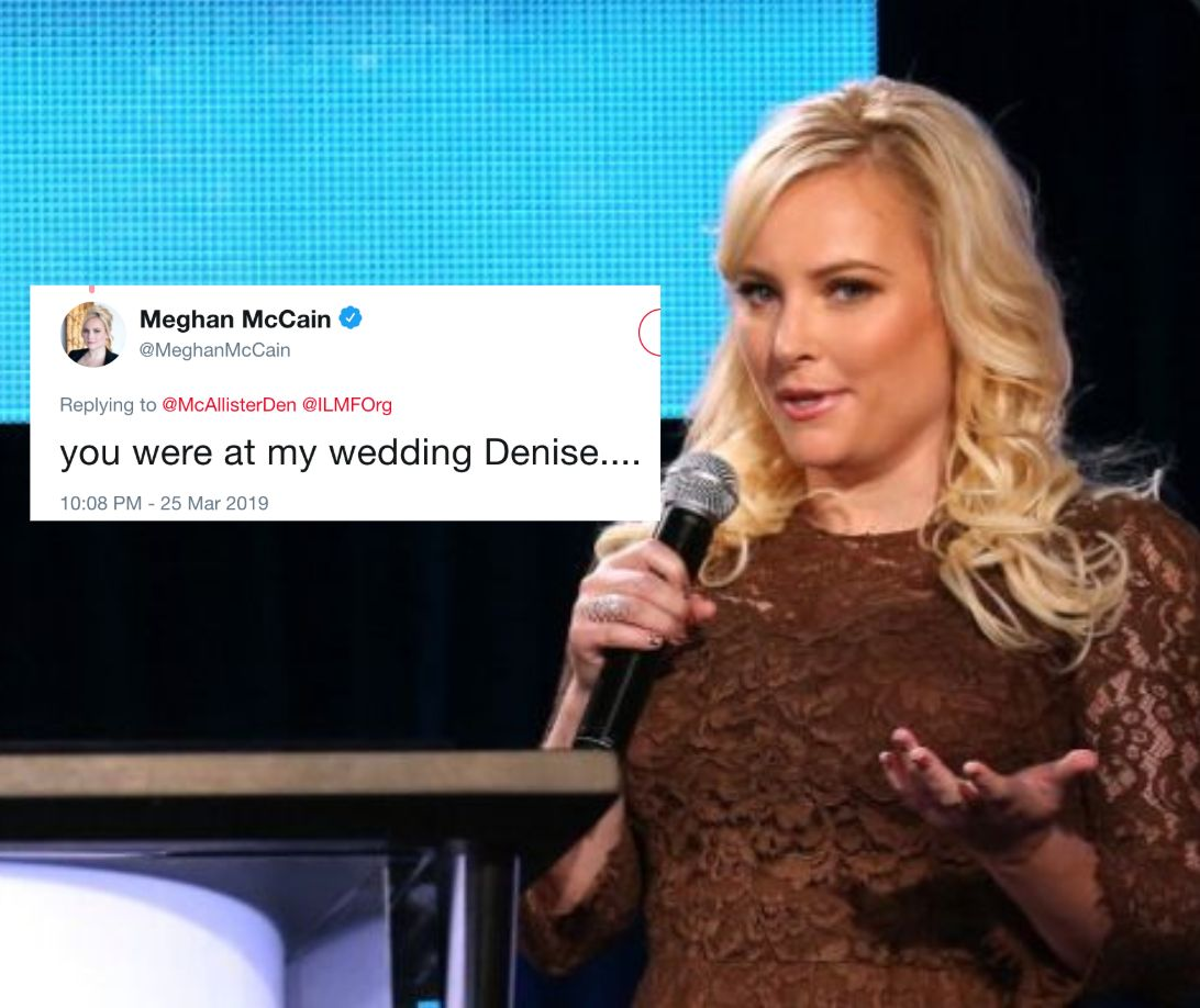 No One Has Been More Eviscerated By Meghan McCain Than Denise, Who Was At Her Wedding