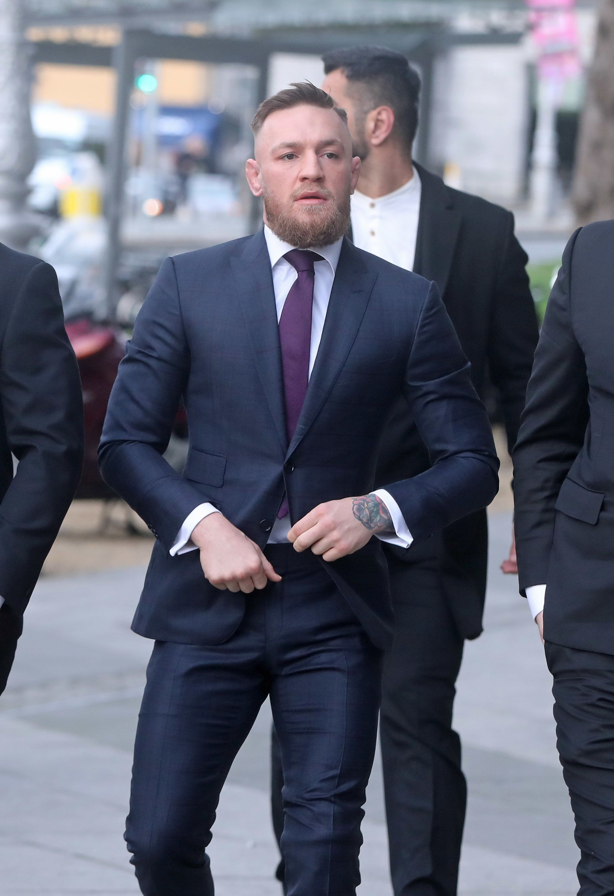 Conor McGregor arrives at Dublin District Court where he is charged with motoring offences. (Photo by Niall Carson/PA Images via Getty Images)