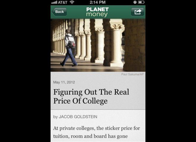Contribute witty insights when talk inevitably turns to the recession, European debt crisis, or grim jobs numbers. NPR's app