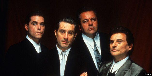 Ray Liotta, Robert De Niro, Paul Sorvino, and Joe Pesci publicity portrait for the film 'Goodfellas', 1990. (Photo by Warner
