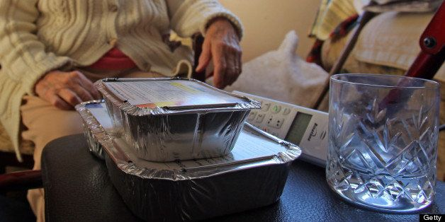HIGH LITTLETON, UNITED KINGDOM - JANUARY 07:  Sue Gardiner manages to deliver meals-on-wheels to elderly residents of High Li