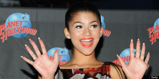 NEW YORK, NY - JULY 15:  Actress/Recording Artist Zendaya attends the Zendaya Planet Hollywood Hand Print Ceremony at Planet