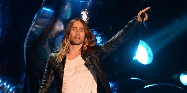 NEW YORK, NY - AUGUST 25:  Jared Leto speaks onstage during the 2013 MTV Video Music Awards at the Barclays Center on August