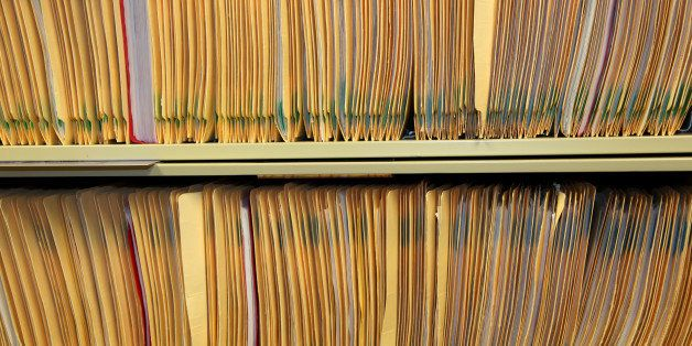 medical records in the shelf of ...