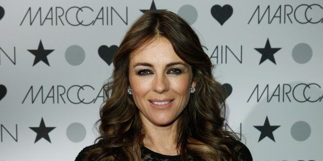 BERLIN, GERMANY - JANUARY 16:  Elizabeth Hurley attends the Marc Cain show during Mercedes-Benz Fashion Week Autumn/Winter 20