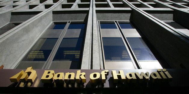 Bank of Hawaii Corp. signage is displayed outside of a branch in Honolulu, Hawaii, U.S., on Wednesday, Jan. 9, 2013. Honolulu