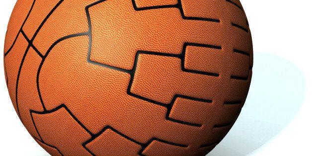 USA - 2011: Steve Wilson illustration of basketball with NCAA tournament bracket superimposed. (Fort Worth Star-Telegram/MCT