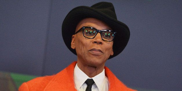 NEW YORK, NY - FEBRUARY 24:  TV personality RuPaul rings the closing bell at NASDAQ MarketSite on February 24, 2014 in New Yo