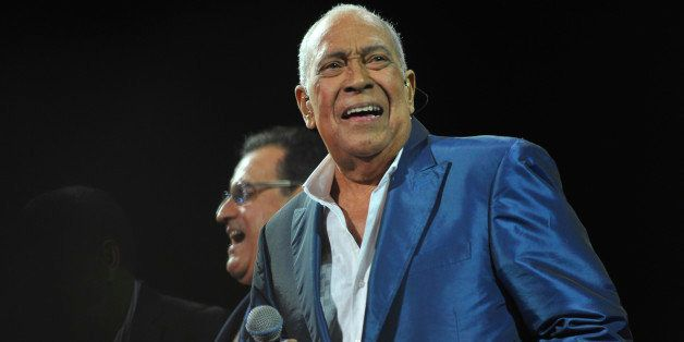 SAN JUAN, PUERTO RICO  OCTOBER 18:  Cheo Feliciano sings during the opening of The Fania All Stars World Tour 2013 at Coliseo