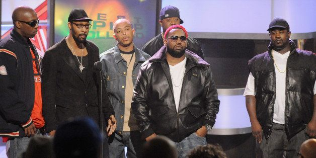 ATLANTA - OCTOBER 18:  Recording artists Inspectah Deck, The RZA, U-God and Raekwon of Wu-Tang Clan onstage during the 2008 B