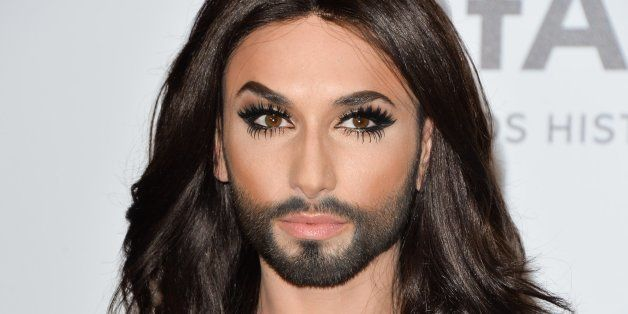 CAP D'ANTIBES, FRANCE - MAY 22: Conchita Wurst attends amfAR's 21st Cinema Against AIDS Gala, Presented...