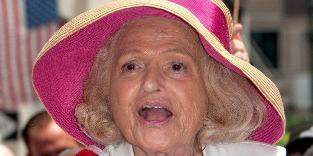 NEW YORK, NY - JUNE 30:  Parade grand marshal Edie Windsor attends The March during NYC Pride 2013 on June 30, 2013 in New Yo