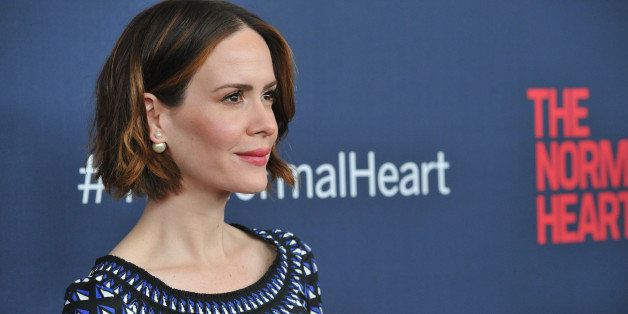 NEW YORK, NY - MAY 12:  Actress Sarah Paulson attends the New York premiere of 'The Normal Heart' at Ziegfeld Theater on May