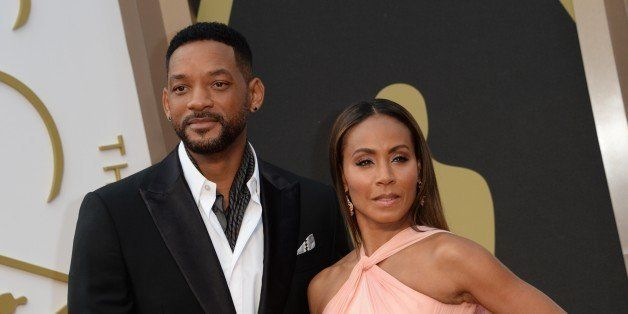 Actrors Will Smith and Jada Pinkett Smith arrive on the red carpet for the 86th Academy Awards on March 2nd, 2014 in Hollywoo