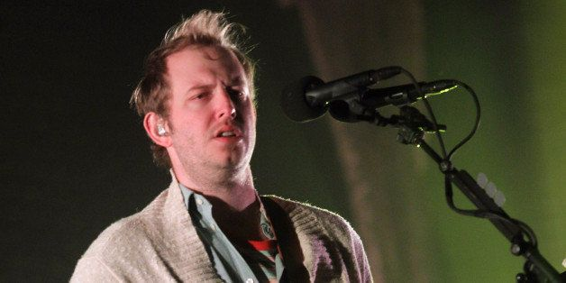 INDIO, CA - APRIL 14:  Musician Justin Vernon of Bon Iver performs onstage during day 2 of the 2012 Coachella Valley Music &
