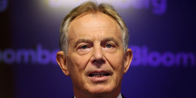 LONDON, ENGLAND - APRIL 23:  Former British Prime Minister Tony Blair speaks at Bloomberg on April 23, 2014 in London, Englan