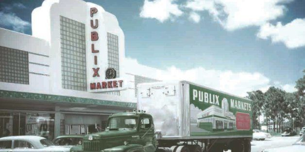 COLLECTIBLE NEW! I LOVE PUBLIX BUMPER STICKER WITH HEART PUBLIX SUPERMARKET