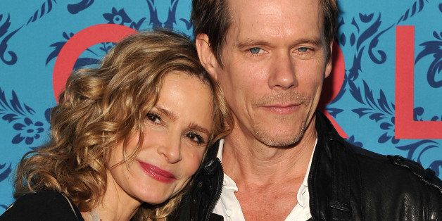 NEW YORK, NY - APRIL 04:  Actors Kyra Sedgwick and Kevin Bacon attend the HBO with The Cinema Society host the New York premi