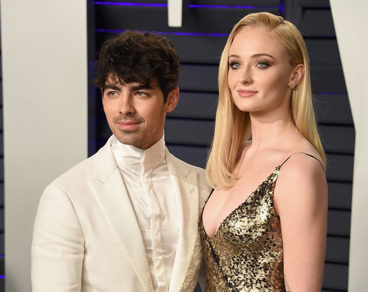Joe Jonas and Sophie Turner attend the 2019 Vanity Fair Oscar Party in February.
