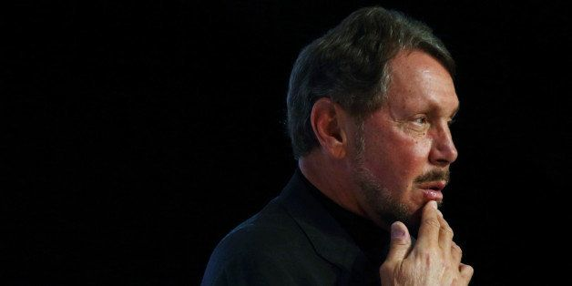 Larry Ellison, chief executive officer of Oracle Corp., attends the New Economy Summit 2014 in Tokyo, Japan, on Wednesday, Ap