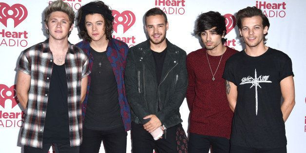 LAS VEGAS, NV - SEPTEMBER 20:  One Direction poses in the 2014 iHeartRadio Music Festival - Night 2 - Press Room at MGM Grand