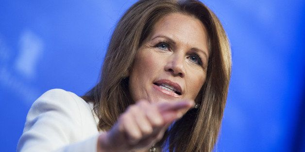 UNITED STATES - OCTOBER 15: Rep. Michele Bachmann, R-Minn., speaks at a Heritage Foundation discussion titled 'The Tea Party