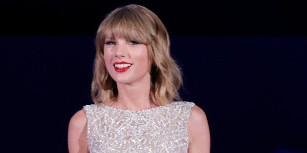 Taylor Swift performs on stage at CBS Radio's second annual We Can Survive concert at the Hollywood Bowl on Friday, Oct. 24,