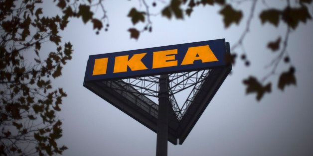 FILE - In this Nov. 16, 2012 file photo, a sign bearing the Ikea logo is seen outside a store in Berlin. The Czech veterinary