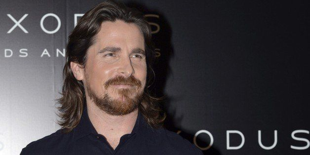 British actor Christian Bale poses during a photocall for the film 'Exodus : Gods and Kings' on December 2, 2014 in Paris. AF