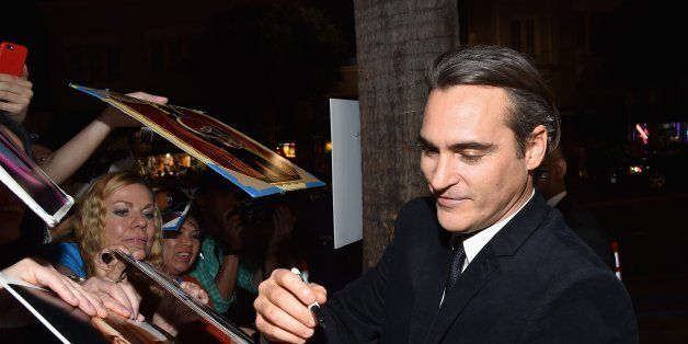 HOLLYWOOD, CA - NOVEMBER 08:  Actor Joaquin Phoenix attends the screening of 'Inherent Vice' during AFI FEST 2014 presented b