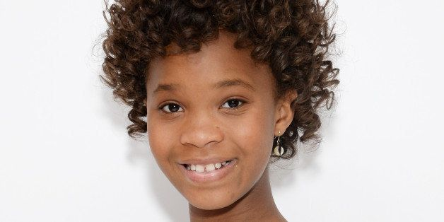 "Actress Quvenzhané Wallis poses during a photo call for the film ""Annie"" at the Crosby Hotel on Thursday, Dec. 4, 2014, in N"