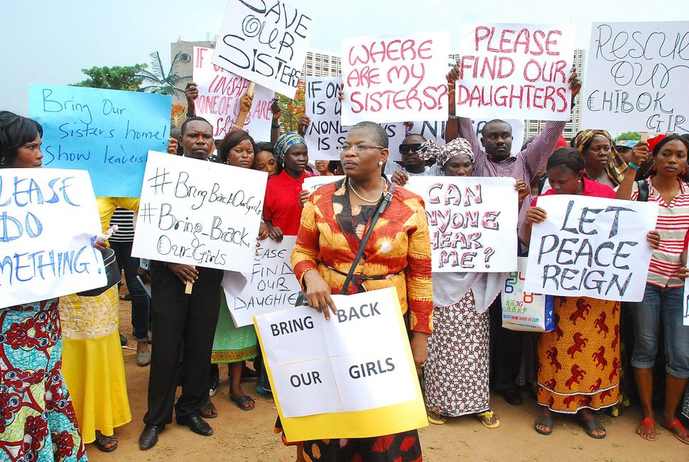 "On the night of April 14, Boko Haram militants <a href=""https://www.huffpost.com/entry/nigeria-girls-kidnapped-5-months_n_579"