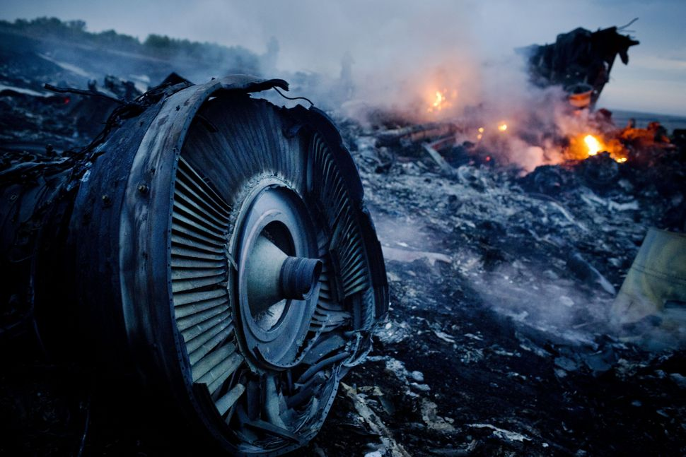 Malaysia Airlines flight MH17 goes down over Eastern Ukraine on July 17. The plane was on its way from Amsterdam to Kuala Lum