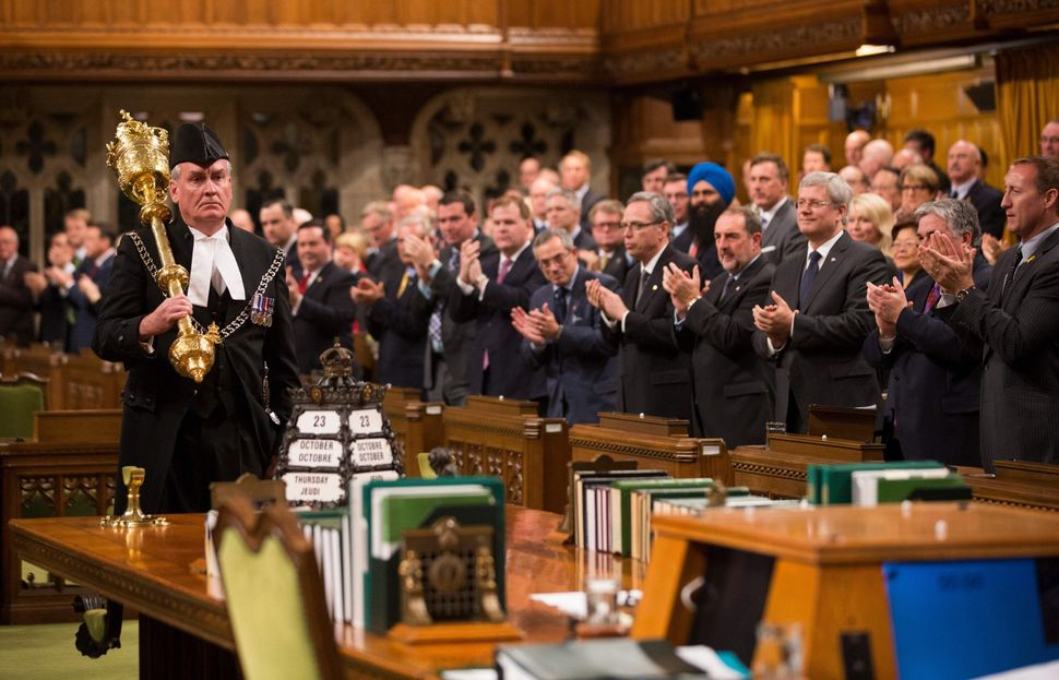 The gunman was halted by Sergeant-at-Arms Kevin Vickers.