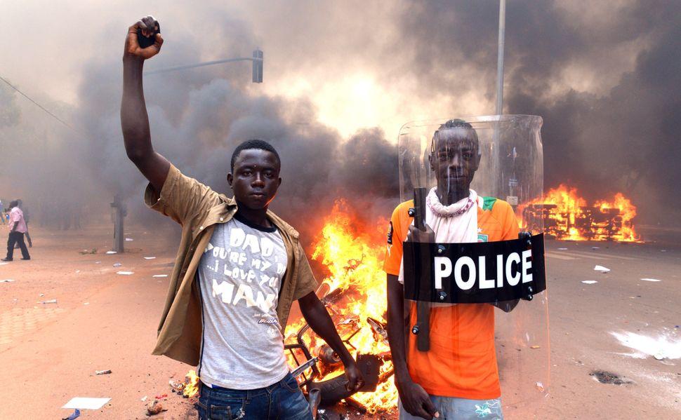 "Burkina Faso's longtime president, Blaise Compaoré, <a href=""http://www.theguardian.com/world/2014/oct/31/burkina-faso-presid"