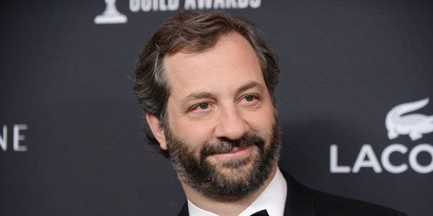 Judd Apatow arrives at the 16th Costume Designer Guild Awards, on Saturday, Feb. 22, 2014, in Beverly Hills, Calif. (Photo by Jordan Strauss/Invision/AP)